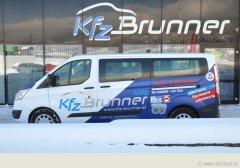 Kfz Brunner GmbH Mils, Autodesing; Beschriftung mit Wrap-Folie und Relfex Folie